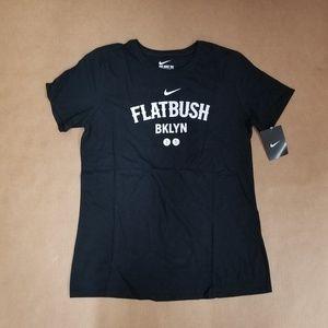 Nike Flatbush Brooklyn Black T-Shirt Women's L